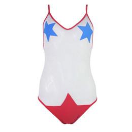 Mesh Bikini Swimwear UK - 2019 THE NEWESTGLAMCARE SWIMWEAR Women's Sexy Bikini One Pieces Star Bathing Mesh Suit Beach Wear