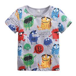 Girls solid brown t shirt online shopping - Kids T shirt Short Sleeves Cartoon Animal Pattern Baby Girls Top for Summer Cotton Knitted Childrens T shirt