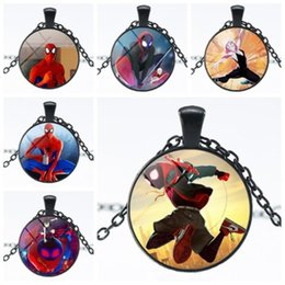 Boys Spiderman Gifts Australia - Film SpiderMan Returning Heroes Parallel Universes Pendant Drop Necklace Fans Souvenirs Gift Punk Necklaces Action Figure Model Doll Jewelry