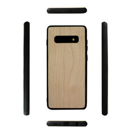 wood bumper case 2019 - Eco-friendly Solid Wood Case For Samsung Galaxy S10 S10lite S10 PLUS s10e Mobile Phone Case Wooden Bamboo Soft TPU Shock