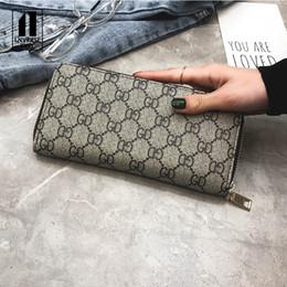 Wholesale Ladies Wallets Handbags Australia - women's wallet female purse Long plaid print flower portable mini Handbag ladies purse PU wallet ladies long clutch men's