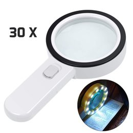 $enCountryForm.capitalKeyWord NZ - Magnifying Glass with Light, 30X Illuminated Large Magnifier Handheld 12 LED Lighted Magnifying Glass for Seniors Reading,Soldering