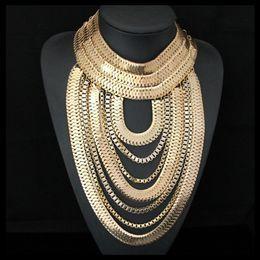$enCountryForm.capitalKeyWord Australia - Cirgen Fashion Body Gothic 6 Colors Snake Chunky Multi Layer Chain Handmade Statement Choker Bijoux Necklace Women Jewelry,c13 Y19050802