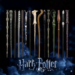 Toys For Big Australia - Harry Potter Magic Wand With Boxes Creative Cosplay 18 Styles Hogwarts Series New Upgrade Resin Non-luminous Magical Wand For Big Kids Toy