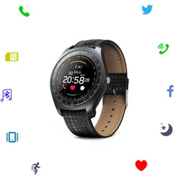 Remote Pack Australia - Fitness Tracker Bluetooth Smart Watch Heart Rate Monitor SIM Card With 1.3MP HD Camera Smartwatch With Retail Packing For Android