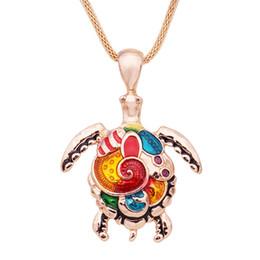 $enCountryForm.capitalKeyWord Australia - Fashion Animal Turtle Necklace Pendants Bright Enamel Tortoise Multi Necklace Women Sea Jewelry Anime Christmas Gifts