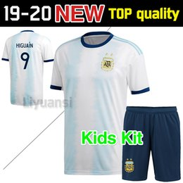 f00f2f755 New Argentina home soccer Jersey 2019 20 Argentina Adult kit kids MESSI  DYBALA DI MARIA AGUERO HIGUAIN national team 2019 Football jersey
