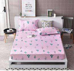 quality textiles Australia - Bedding set 3pcs case and Fitted Sheet Printed Solid Mattress Cover Four Corners With Elastic Band Bed Sheet Home textile