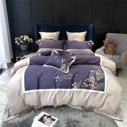 $enCountryForm.capitalKeyWord Australia - Super Luxury Embroidery 60S Egyptian Cotton Bedding Set Duvet Cover Bed sheet Bed Linen Pillowcases king queen size bed set
