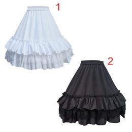 $enCountryForm.capitalKeyWord Australia - Women Girls Knee Length Short Petticoat Tiered Ruffles Lace Trimming Pettiskirt 1 Hoop Crinoline Underskirt Removable Fish
