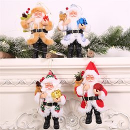 AnimAted plush toys online shopping - Christmas Standing Ornament Simulated Santa Claus Doll Old Man Mask Plush Figurine Toy Animated Doll Xmas Gift Decoration