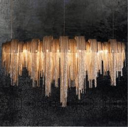 Luxury Kitchens Designs Australia - New design LED aluminum chandeliers luxury light Chain woven chandelier gold silver