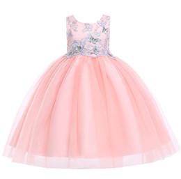 Baby Girls Lace Butterfly Dress 2019 Kids Dresses For Girls Princess Dress  Infantil Party Dress Girl Wedding Clothes For 100-150cm 65d9bafdd2c5