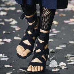 $enCountryForm.capitalKeyWord Australia - Hot Sale- Beige Black Strange Clear Heel Sandals Silk Bandage Flip Flop Abnormal Heels Gladiator Lace Up Sandals Party Shoes Women