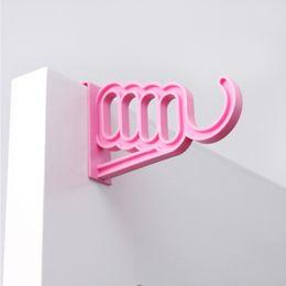 $enCountryForm.capitalKeyWord Australia - Candy Colored Coat Clothes Hanger Drying Rack Bathroom Door Hook for Umbrella Clothing Plastic Organizer Space Saver
