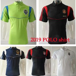 Uniform Polo Australia - 2019 POLO MLS multiple clubs Seattle Sounders Atlanta United Soccer Jersey 19 20 NY city Soccer Football Uniforms Sport MLS Polo shirt
