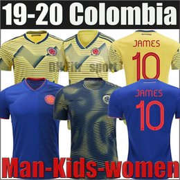 falcao jersey colombia NZ - 19 20 Colombia JAMES FALCAO VALDERRAMA Soccer Jersey Home away 2019 2020 man woman kids kit Football sports Short Shirt