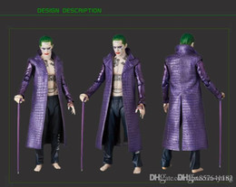 tv film halloween costumes Australia - Wholesale-Film Kukucos Batman Suicide Squad Halloween Coat Leather Long Jacket Jared Leto Joker Cosplay Costume with pants Fashion Style