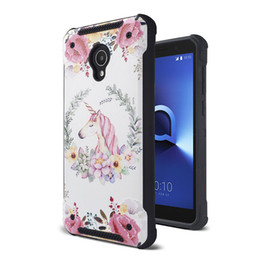 Discount alcatel hard phone cases Design printing Hard Armor Phone Case For Alcatel 1X Evolve Motorola MOTO E5 play Samsung J2 core TPU PC good price
