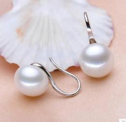 $enCountryForm.capitalKeyWord Australia - Natural 11-12mm White Akoya Freshwater Pearl Alloy Silver Earring pendientes earrings for women sterling-silver-jewelry