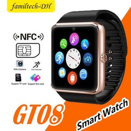 $enCountryForm.capitalKeyWord Australia - Smart Watch GT08 for Andriod Mobile Phone Bluetooth Watch with SIM Card Watch for IOS Wearable Device Phone Free Shipping