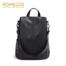 Soft Back Packs Australia - Pomelos Backpack Female Designer New Women Leather Backpack Anti Theft High Quality Soft Back Pack Casual Backpacks School Bags Y19061102