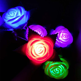 $enCountryForm.capitalKeyWord Australia - New LED Flashing Rose Flower Night Light Flash Lamp Garden Yard Outdoor Path Lawn Power Party Glow Props Xmas Valentine's Day Decoration