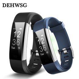 Discount facebook smart watch - ID115 HR Plus Smart bracelet Fitness Tracker Heart Rate Sleep monitor facebook whatsapp reminder Alarm Clock watch PK Fi