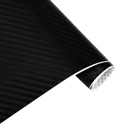 carbon fiber wrap film NZ - 127cm*30cm Car Sticker 3D Carbon Fiber Vinyl Film Waterproof Car Wrap Sticker Decals for Motorcycle Auto Car Styling Automobile