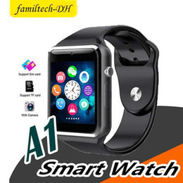 $enCountryForm.capitalKeyWord Australia - A1 Bluetooth Smart Watch support SIM Card Slot Health Watchs for Android Samsung and IOS iphone Smartphone Bracelet Smartwatch