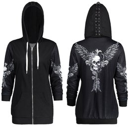 $enCountryForm.capitalKeyWord Australia - 1color 5 Size Autumn Kpop Clothes Black Women Hoodies Sweatshirts Punk Long Sleeve Skull Wings Print Hooded Jacket Zipper Coat