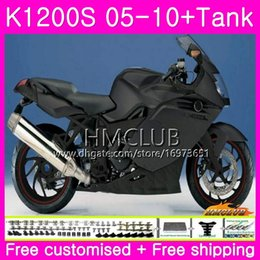 fairing bmw k Australia - Body+Tank For BMW K1200 S K 1200 S K1200S 05 06 07 08 09 10 Kit 30HM.8 K-1200S K 1200S 2005 2006 2007 2008 2009 2010 Fairing Top Matte black