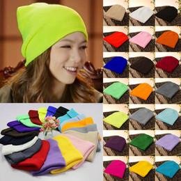 Ingrosso Berretto da sci da donna Berretto da sci in maglia Hip-Hop Blank colore caldo cappello di lana unisex caldo 22 colori