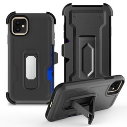 moto mobiles NZ - For Motorola moto E6 case Mobile Phone accessory TPU PC With Black Clip Shockproof Cover Phone Case For Motorola moto E6 boost B
