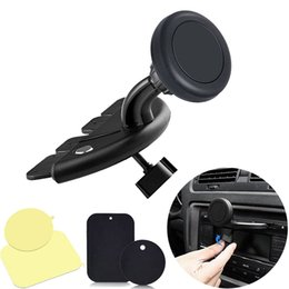 Wholesale New Universal Car CD Dash Slot Phone Mount Holder Portable Black Holder Stand For Smart Phone