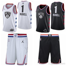 Net Games Australia - 1 D'Angelo Russells Brooklyn top Nets 2019 All-Star Game Finished Swingman Basketball Jersey Black White
