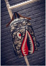 Cool Backpacks For Teenage NZ - Graffiti Anime Shark Printing Backpack For Teenage Boy Girl Women Men School Bags Cool Laptop Bag Travel Backpack