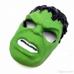 1f2e8bfcd8e Marvel Masks Australia - New Marvel The Avengers Green Hulk Masks Helloween  Cosplay Masquerade Masks Party
