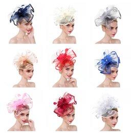 $enCountryForm.capitalKeyWord Australia - Gauze Hair Hoop Feather Headwear Wedding Hair Jewelry Ladies Formal Classic Party Colors Mix Fashion 21 5dn F1