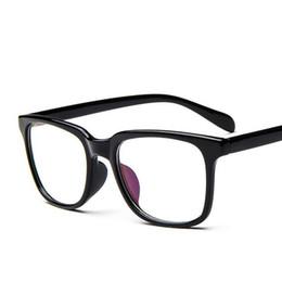 c48bc478ddc Oversized Prescription Eyewear Trend Unisex Square Clear Glasses with 0  Degree Spectacle Frame Vintage Optics Eyeglasses Frame