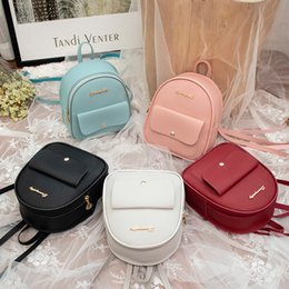 Styles Backpacks Australia - 2019 Mini Backpack Women Korean Style PU Leather Shoulder Bag For Teenage Girls Multi-Function Small Bagpack Female Phone Pouch