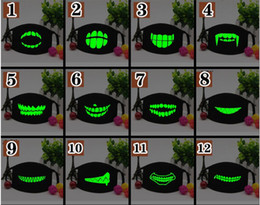 funny horror face mask NZ - 1pc Mouth Black Cotton Half Face Mask High Quality 1PC Unisex Cartoon Funny Teeth Letter DHL for over 100PCS