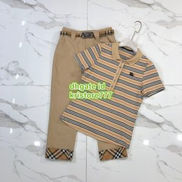 Vintage trousers girl online shopping - high end women girls vest vintage striped Tee t shirt with embroidery Shirt tee top and cropped trousers pant summer outwear suit set