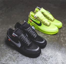 venda por atacado 2019 nike air force 1 off white Flyknit Utility sapatos Um mens mulheres Flyline Esportes Sapatos de Skate High Low Cut Branco Preto Ao Ar Livre Sapatilhas