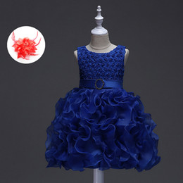 $enCountryForm.capitalKeyWord Australia - Cute Pageant Wedding Party Crew Neck Dresses 0-18m Pink Red White Lavender Royal Blue Infant Dresses Baby Ball Gown Y19061001