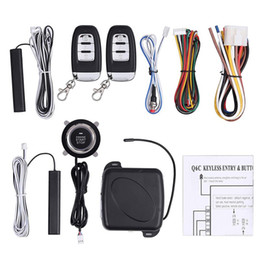 engine start Australia - Car Alarm Remote Control Car Keyless Entry Engine Start Alarm System Button Remote Starter Stop Security System Set