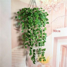 Fake Hanging Vines Hang Australia - 90cm in length Hanging Vine Leaves Artificial Greenery fake Plants Leaves Garland Home Garden Wedding Decorations Wall Decor