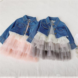 $enCountryForm.capitalKeyWord Australia - Fall Newest INS Little Girls Dresses Cake Ruffles Gauzy Long Sleeve Princess Dresses Kids Girls Jeans Coat Children Designer Clothing
