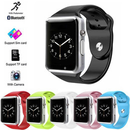 $enCountryForm.capitalKeyWord Australia - New A1 WristWatch Bluetooth Smart Watch Touch Screen Relogio Android Smartwatch Phone Call SIM TF With Camera Sports Fitness Pedometer