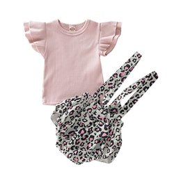 $enCountryForm.capitalKeyWord Australia - Baby Girl Clothes Princess Top Leopard Print Romper Short Pant Skirt Outfit Clothes Loveky Girl 2pcs Set roupa infantil D20